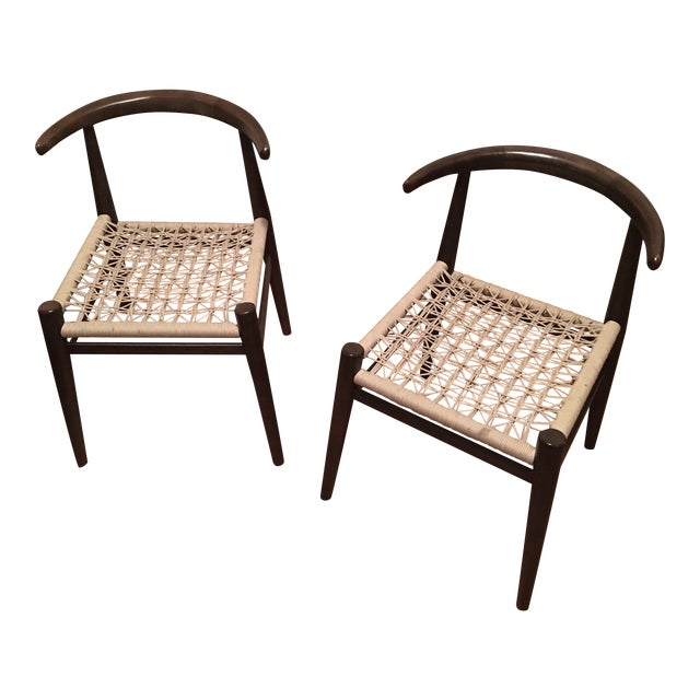 West Elm John Vogel Chairs Pair Chairish