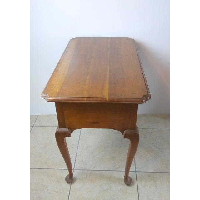 L. & J.G. Stickley, Inc. 20th Century Queen Anne Style L & Jg Stickley Oak Writing Desk For Sale - Image 4 of 11