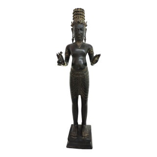 Burmese Colonial Era Bronze Brahma Statue For Sale