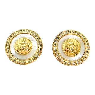Medusa Earrings by Gianni Versace For Sale