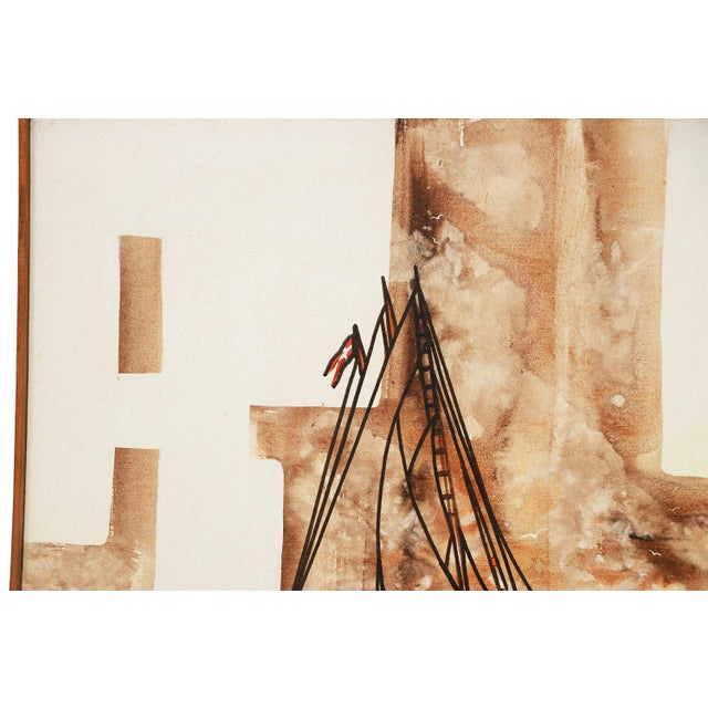 Michael Quincy Rothwell Mid Century Abstract Expressionist Original Oil Painting Signed For Sale In Baltimore - Image 6 of 11