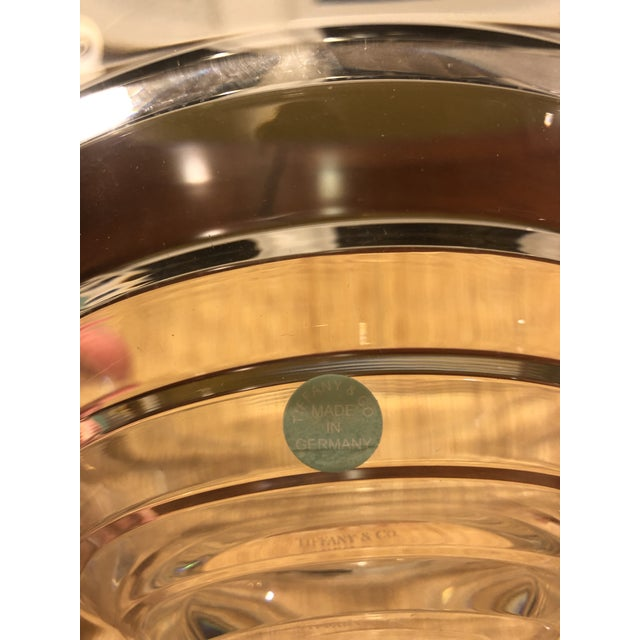 1990s Vintage Tiffany & Co. Cut Crystal Centerpiece Bowl For Sale - Image 5 of 11