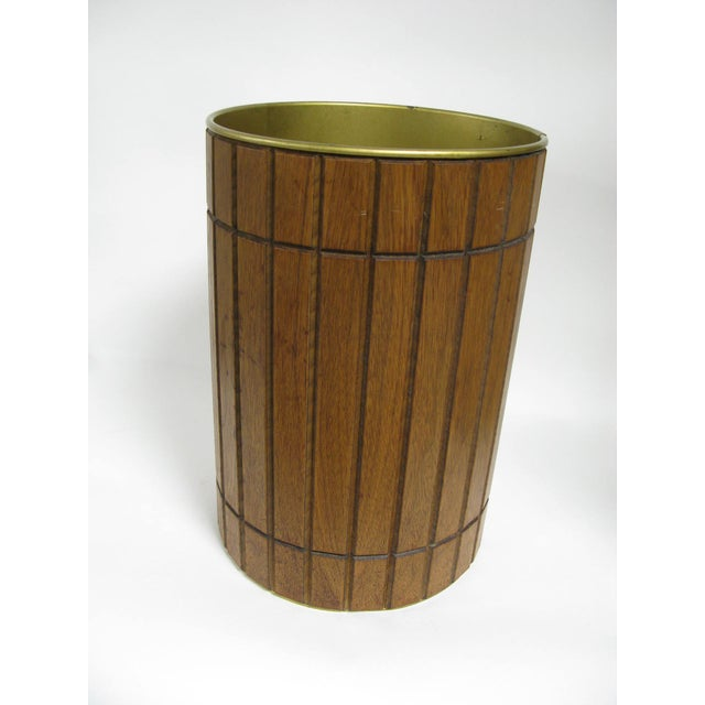 1960s Walnut Gruvwood Waste Basket by National Products Inc. For Sale - Image 10 of 10