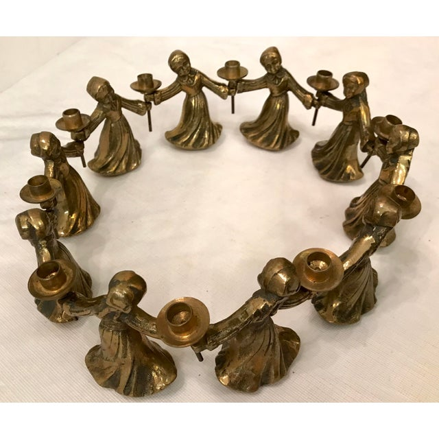 Early 20th Century Vintage Ladies Dancing Candle Holders - Set of 10 For Sale - Image 5 of 10