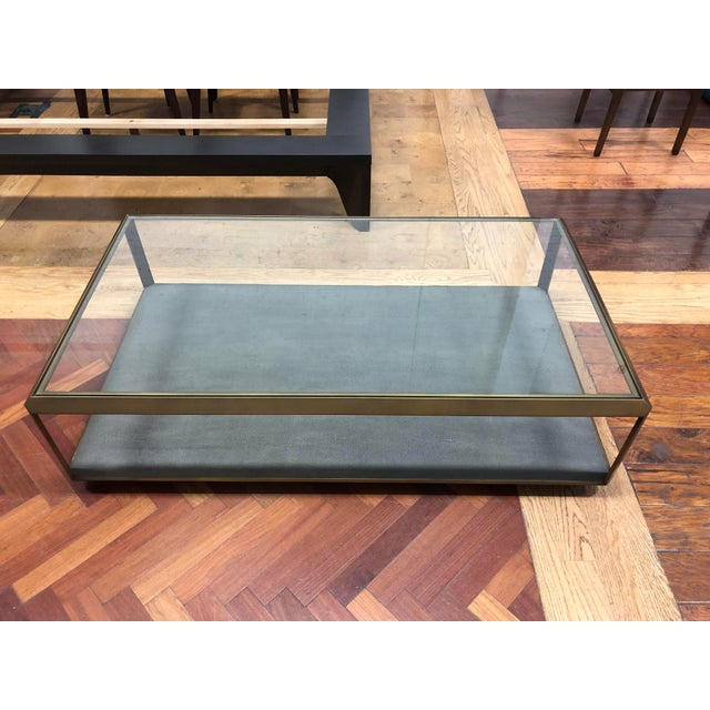 Contemporary New Four Hands Bentley Shagreen Shadow Box Coffee Table For Sale - Image 3 of 11