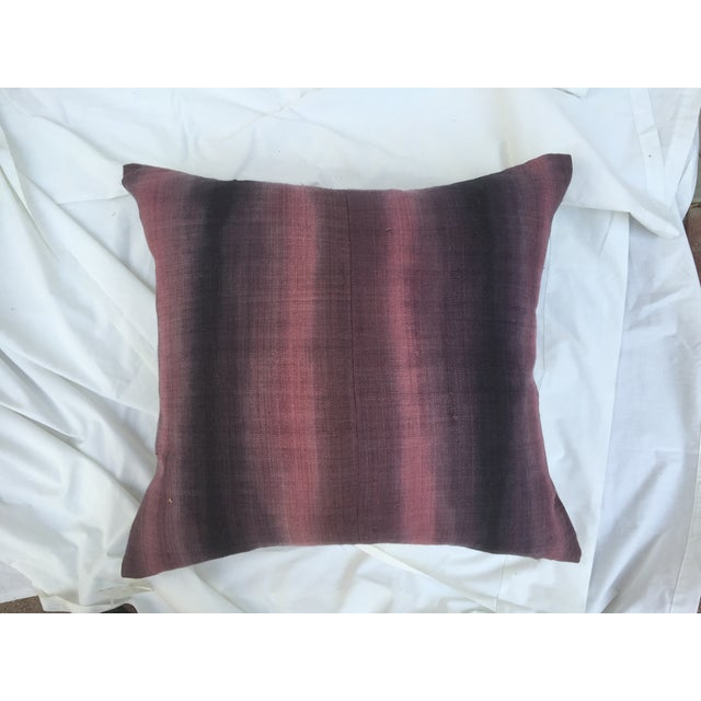 Tie-Dye Woven Thai Linen Pillows - Pair For Sale - Image 4 of 6