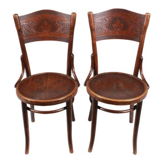 Art Nouveau Thonet Chairs, Pair