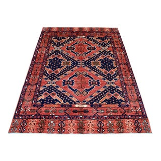 Red Afghan Ersari Tribal Design Wool Hand Made Rug For Sale