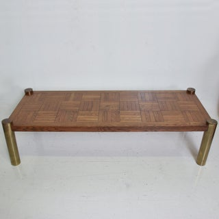 Mid Century Modern Coffee Table by Lane, Oak and Brass Preview