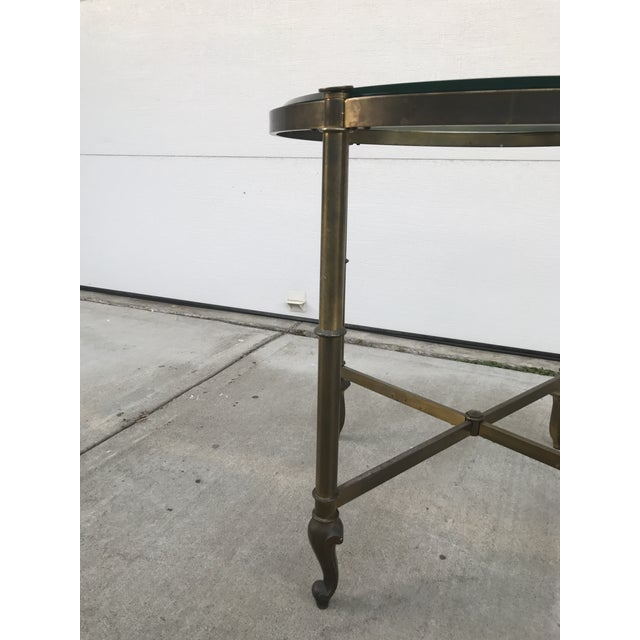 Metal Regency Style Corner Table For Sale - Image 7 of 9
