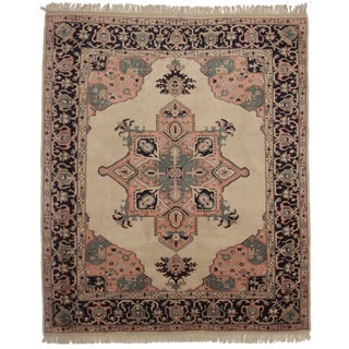 Vintage Hand Knotted Persian Style Rug - 8′7″ × 10 For Sale