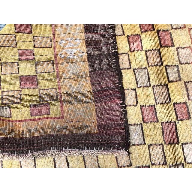 Textile Vintage Turkish Tulu Rug - 4′ × 6′ For Sale - Image 7 of 8