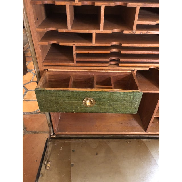 1940s Vintage Campaign Style Dental Field Desk End Table For Sale - Image 5 of 13