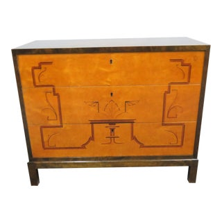 French Art Deco Inlaid Commode For Sale