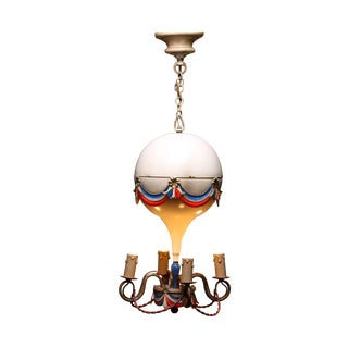 1950's French Hot-Air Balloon Chandelier