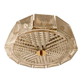 Orrefors Swedish Crystal Flush Pendant