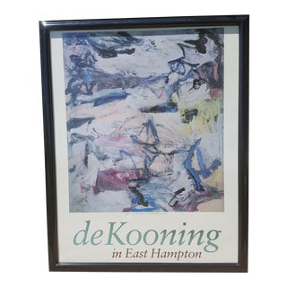 Mid Century Modern Framed William De Kooning Abstract Print For Sale