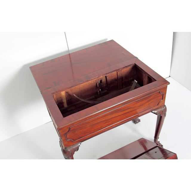 A George II Mahogany Harlequin Table For Sale - Image 11 of 13