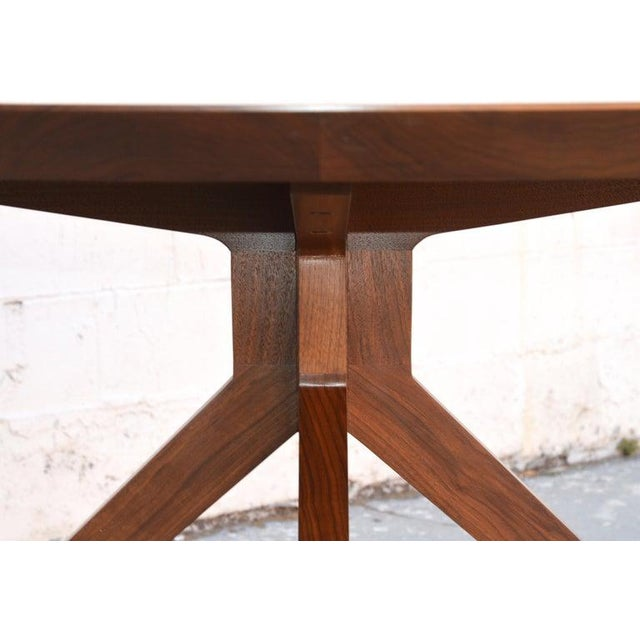 'Sputnik' Dining Table in Solid Walnut, Built to Order by Petersen Antiques For Sale - Image 4 of 11