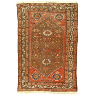 Late 19th Century Antique Persian Malayer Rug - 4′3″ × 6′2″ For Sale