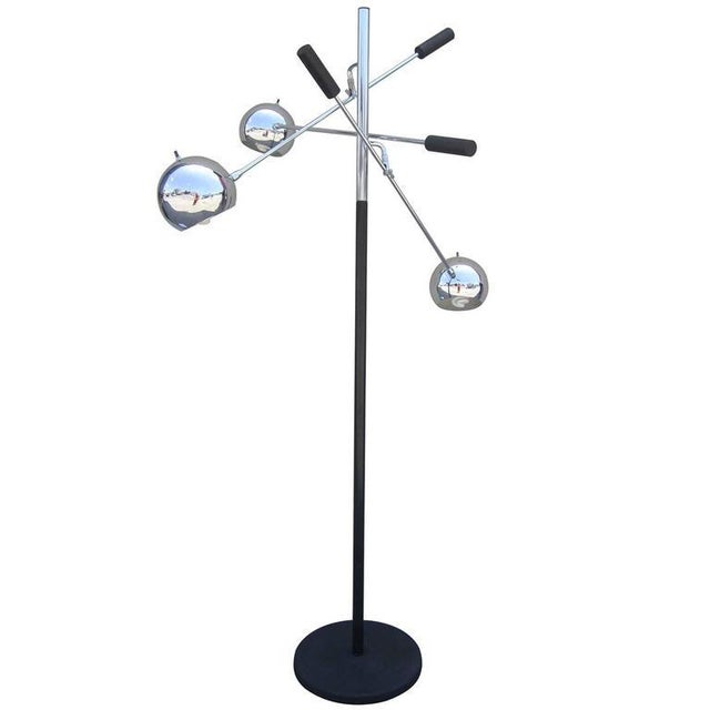 "Space Age ""Orbiter"" Floor Lamp by Robert Sonneman For Sale"