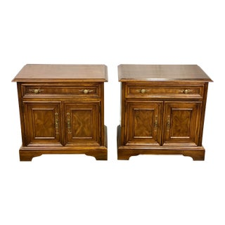 Vintage Drexel Heritage Tryon Manor Nightstands - a Pair For Sale