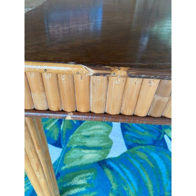 Vintage Split Bamboo Table For Sale In Naples, FL - Image 6 of 13