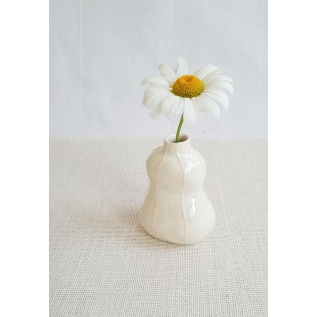 2020s Contemporary White Bud Vases - Set of 3 For Sale - Image 5 of 9