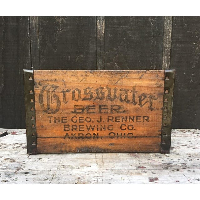 Late 1910s to early 1920s era wooden beer crate. Grossvater Beer, made by the Geo (George) J. (Jacob) Renner Brewing Co...