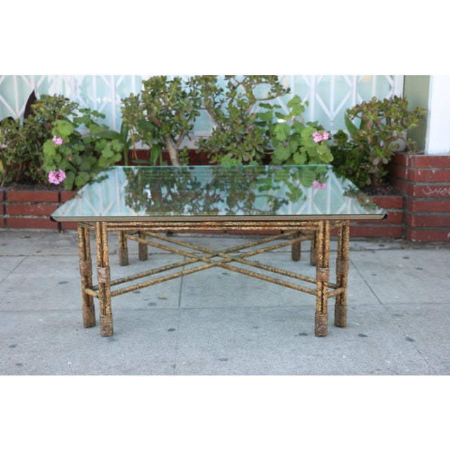 Metal Distressed Rustic Coffee Table For Sale - Image 10 of 10