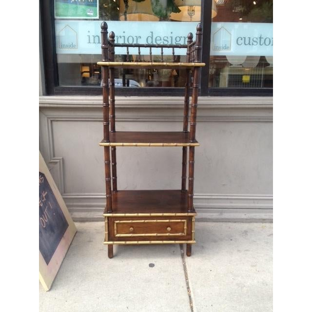 Vintage Faux Bamboo Shelf/Bar - Image 2 of 6