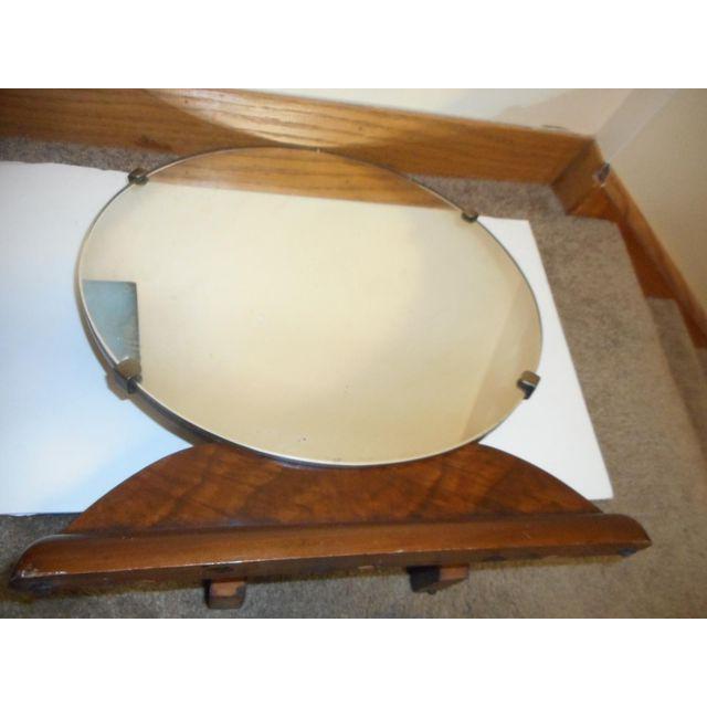 Round Art Deco Bureau Top Mirror - Image 2 of 3
