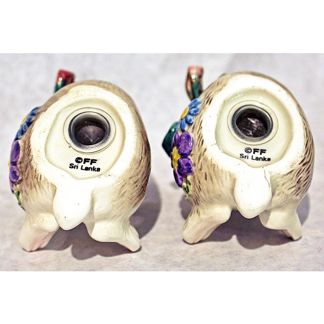 Fitz and Floyd Bunny Rabbit Shakers - Set of 4 - Image 9 of 11