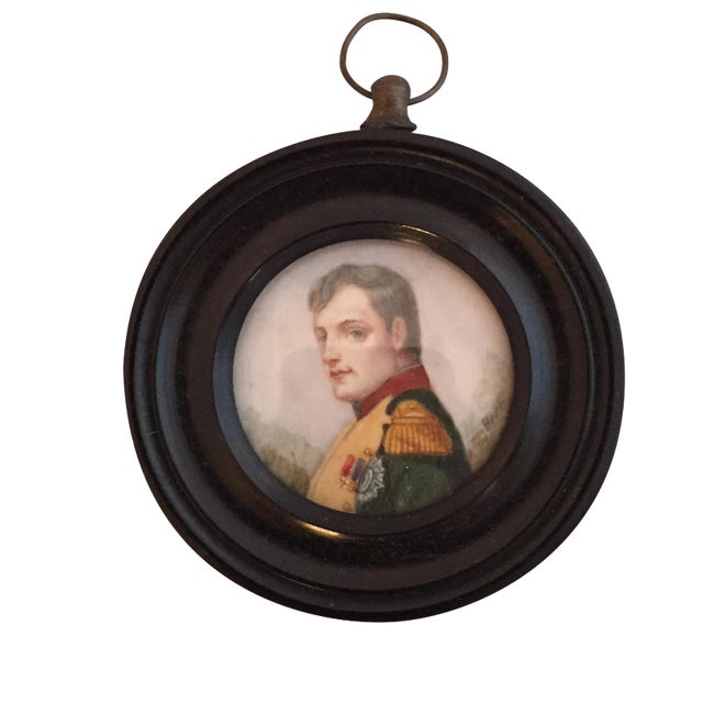 19th-C. Miniature Portrait of an Officer For Sale