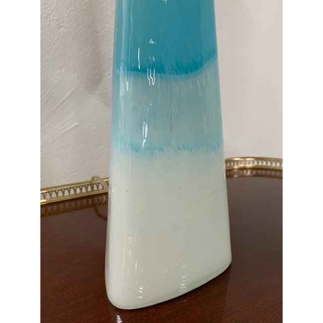 Pair of Modern Colorful Glass Lamps For Sale - Image 4 of 5