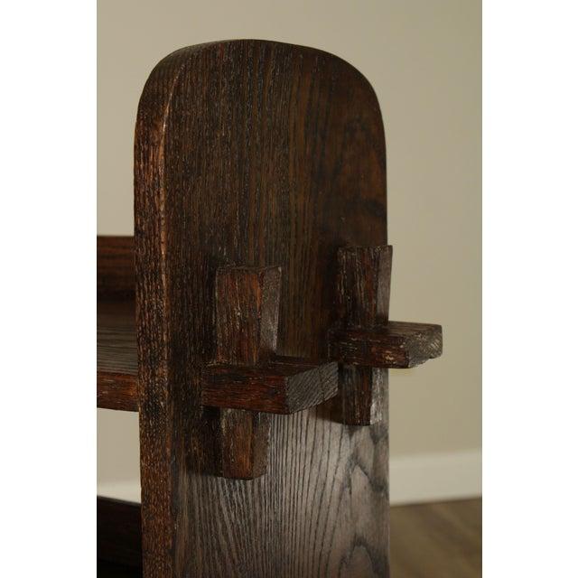 Brown Antique Mission Arts & Crafts Oak Bookshelf For Sale - Image 8 of 13
