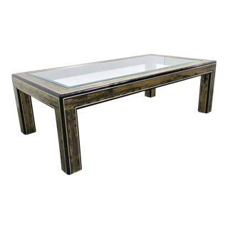Bernhard Rohne for Mastercraft Acid Etched Coffee Table For Sale
