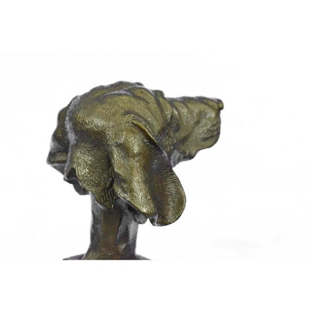 Dachshund Bust Bronze Sculpture - Image 8 of 10