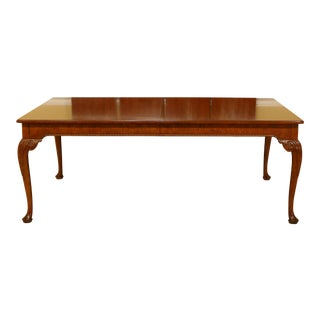 Baker Inlaid Walnut George III Style Dining Room Table For Sale