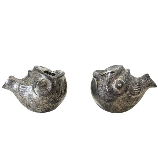 Just Andersen Miniature Fish Candle Holders - A Pair For Sale