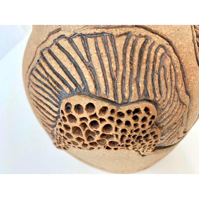 "Vintage Signed ""Moni"" Ceramic Vase, Mid Century Era For Sale - Image 11 of 13"
