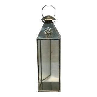 Moroccan Stainless Silver Lantern