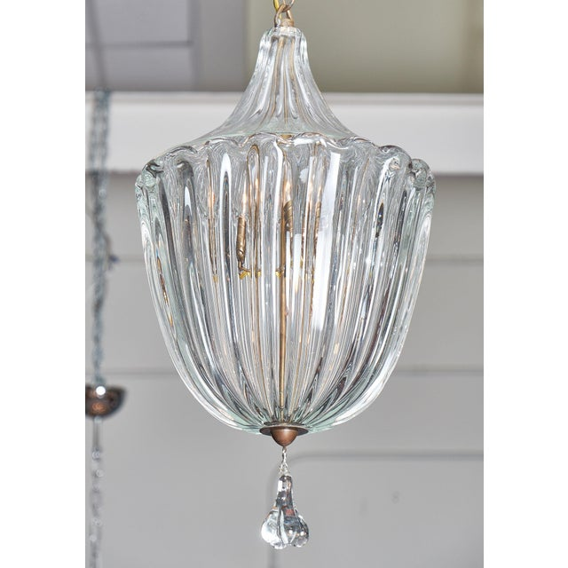 Art Deco 1950s Murano Glass Lantern by Barovier For Sale - Image 3 of 10