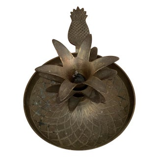 Solid Brass Gatco Pineapple Candleholder