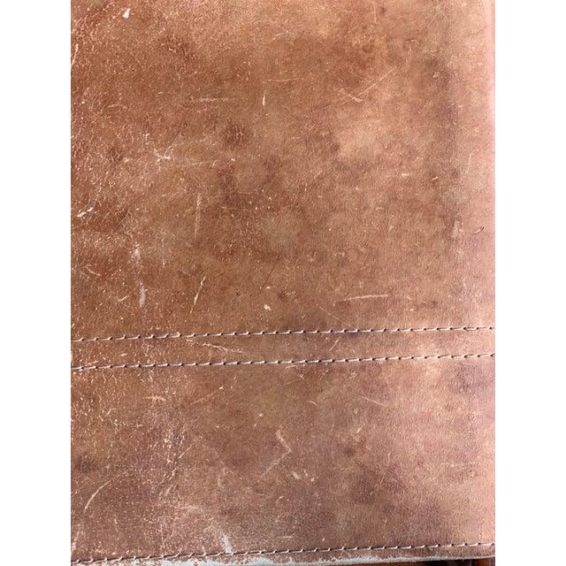 Michel Arnoult Leather Sling Rocker For Sale In Dallas - Image 6 of 9