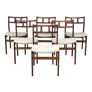 Mid Century Danish D-Scan Teak Dining Chairs - Set of 6 For Sale