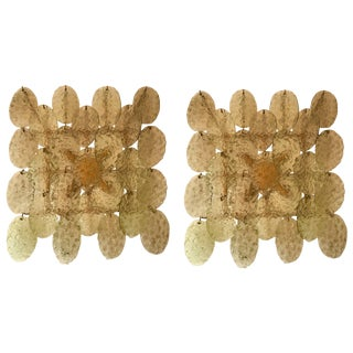 Pair of Sconces Murano Glass by Vistosi, Italy, 1970s For Sale