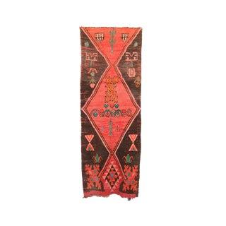 """Boujad Vintage Moroccan Rug, 3'3"""" X 9'1"""" Feet"""