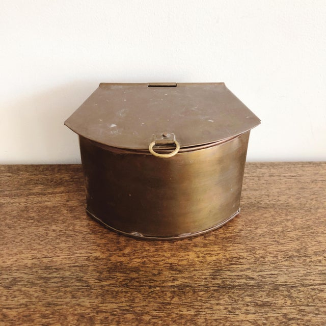 Brass 1960s Hanging Brass Planter / Mail Bin For Sale - Image 8 of 8