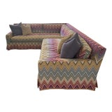 Image of Stephen Gambrel Designed Custom Missoni Sectional For Sale